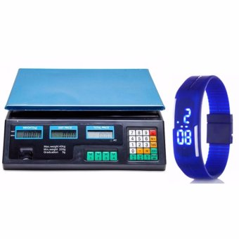Digital Price Computing Scale (Black) with LED Watch Color May Vary Price Philippines