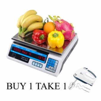 Digital Price Computing Weight Electronic Scale 30kg BUY 1 TAKE 1 7Speed Electric Hand Mixer