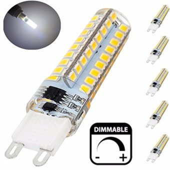 Dimmable LED G9 Light Bulb, 5 Watt ( 40 Watt Halogen Equivalent )Silicone Coated Bi-pin Base G9 LED Corn Crystal Bulb, 360 DegreeCorn Lamp - Fit for Crystal Chandelier, Ceiling Lamp Lighting(2PC)- intl