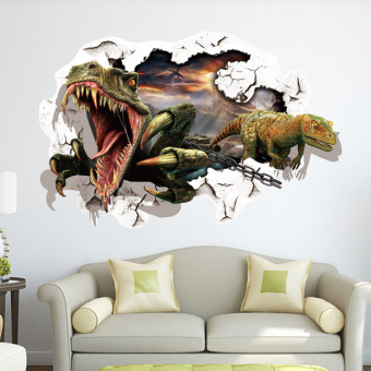 Dinosaur children's room decorative 3D adhesive paper wall stickers