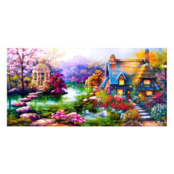 DIY 5D Diamond Painting Embroidery Kits Garden Cottage Design HomeDecor