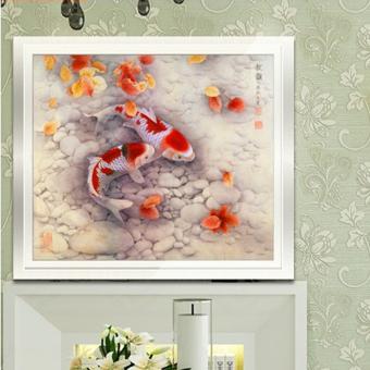 DIY 5D Diamond Sticker Two Fish Cross Stitch Painting - 4