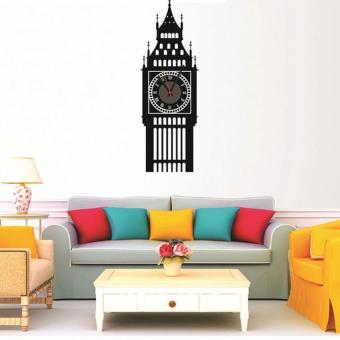 DIY Big Ben 3D Mirror Surface Wall Clock Sticker