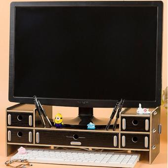 DIY Desktop TV/ Computer Elevated Frame with Drawer (Black) Price Philippines