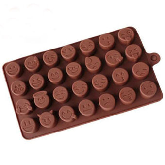 DIY Emoji Cake Chocolate Cookies Ice Cube Soap Silicone Mold TrayBaking Mould Coffee - intl Price Philippines