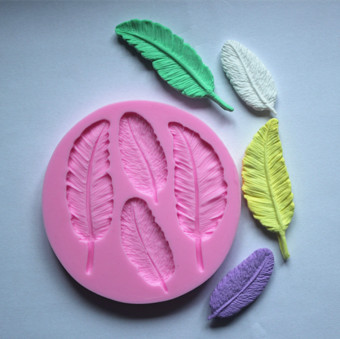 DIY Feather silicone fondant cake molds cake decorating tools leafchocolate mold cake tools kitchen baking tools color GreenF0155YM50 Price Philippines