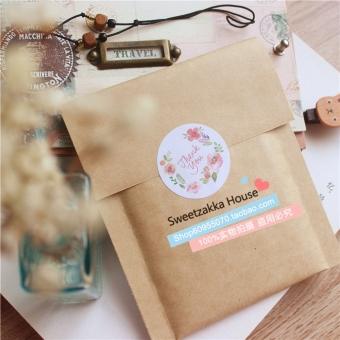 DIY fresh flower gift seal stickers