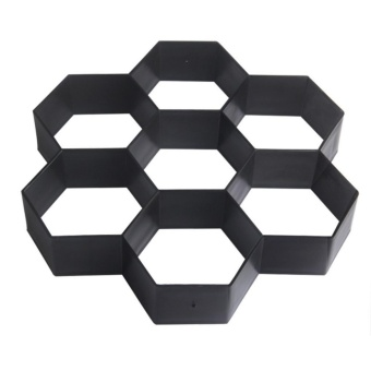 DIY Patio Walk Maker Stepping Stone Concrete Paver Mold ReusablePath Maker Mold Garden Paving Stone Molds (Black) - intl - 2