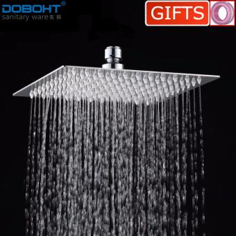 DOBOHT Bathroom Home 8 inch Suqare 201 Stainless Steel Shower Head(Chrome) - intl Price Philippines