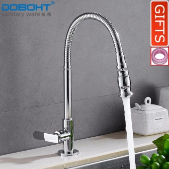 DOBOHT Brass Bathroom Sink Basin Kitchen Single Cold TapFaucet(Chrome) - intl Price Philippines