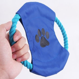 Dog Puppy Toy Frisbee-Rope Play Fetch Fly Throw Disc For Puppy PetSupplies Price Philippines