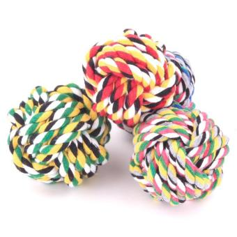 Dog Rope Toy Durable Chew Knot Ball for Aggressive Puppy Pets(8cm)- intl