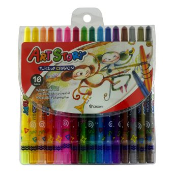 Dong-A Crown Korea Twist Up Crayons 16 colors