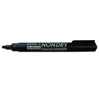 Dong-A Refillable Non-Dry Permanent Marker Black 12pcs/box - 2