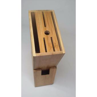 Donghua Bamboo Wood Tool Carrier Knife Holder Set of 2 - 3