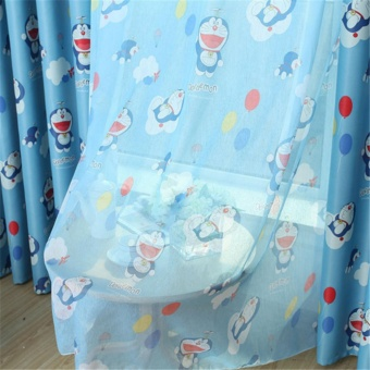Doraemon Curtain Tulle Sheer Curtain Window Pane for Living room Kitchen Kids Tirai - intl