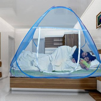 Double Bed Size Folding Mosquito Net Blue (180x200)