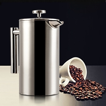 Double Layer stainless steel insulated filter French press pot