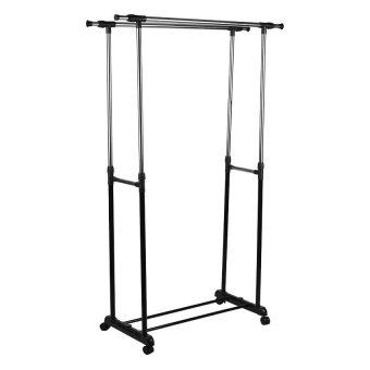 rack. double pole clothes rack