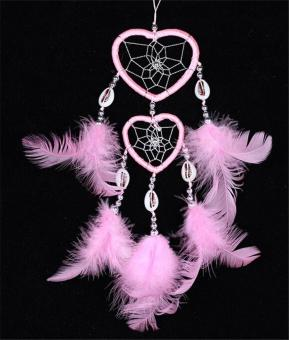 Dreamcatcher Wind Chimes Heart Rings Indian Style Feather PendantDream Catcher House Car Decor Religious Mascot - intl Price Philippines