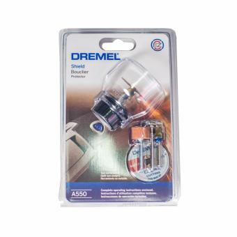 Dremel A550 Shield Attachment with Dremel Accessories and EZ LockMandrel for Dremel Rotary Tools