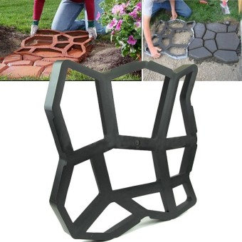 Driveway Paving Pavement Mold Patio Concrete Stepping Stone Path Walk Maker - intl