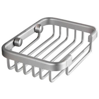 DSstyles Aluminum Soap Dish Bathroom Shower Toilet Soap HolderSaver Basket Wall Mounted - intl