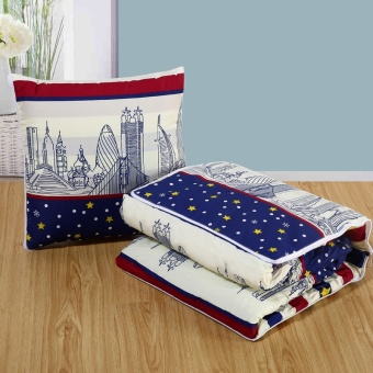 Dual Nap Pillow Quilt Multifunctional Cushion Quilt(City Impression) - intl