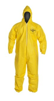 DuPont Tychem Chemical Protection Coverall Suit with Hood Large(Yellow) Price Philippines