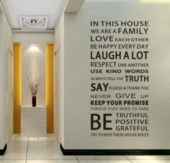 E goddess European building English Lettered wall sticker