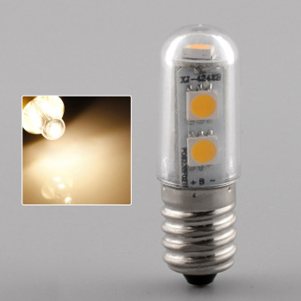 E14 7LED 5050SMD 1W/220V Candle Light Lamp Home Fridge Bed Corn Bulb Warm White - 3