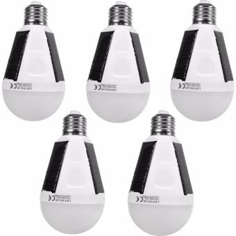 E27 12W Led Intelligent Lamp Solar Emergency Bulb - intl Set of 5