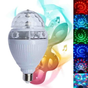 E27 Bluetooth Control Speaker Music Bulb RGB Auto Rotation 110V/220V - intl