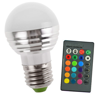 E27 Dimmable LED 16-Color RGB Spot Bulb Light Garden Yard Stage Christmas Decoration Spot light Lamp with Remote Control