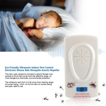 Eco-Friendly Ultrasonic Indoor Pest Control Electronic MouseMosquito Insects Repeller US Plug - intl
