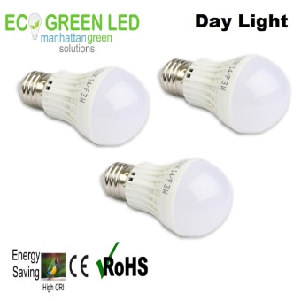 EcoGreen E27 Super Bright Premium 3W LED Lighting Set of 3 (Daylight White)