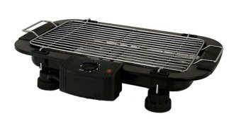 Electric Outdoor Barbecue Grill-(Black)