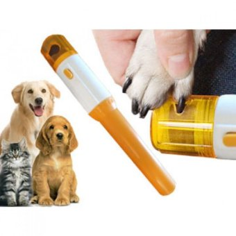 Electric Pet Dog Cat Nail Trimmer Pedicure Tool (Yellow) - picture 2