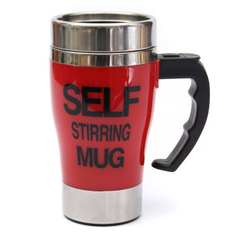 Electric Stainless Stirring Mug Auto Cup Office Home Mugs (Red)