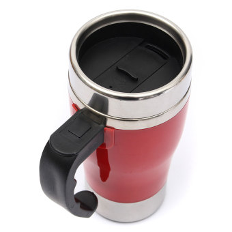 Electric Stainless Stirring Mug Auto Cup Office Home Mugs (Red) - picture 2