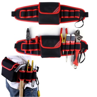 Electricians Tool Belt Pouch Adjustable Waist Bag WaterproofDurable Multi-functional for Screwdriver Tool Holder Rack - intl