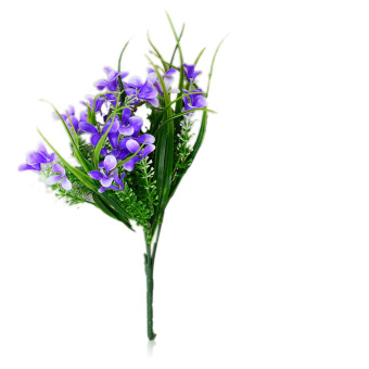 ELENXS 2 pcs Artificial Gladiolus Flower (Blue)