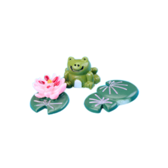 ELENXS 3pcs Frogs Miniature Animals Craft Micro Landscape Ornament