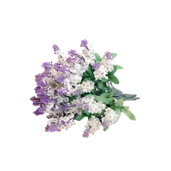ELENXS Artificial Lavender Silk Flowers 2 pcs (White)