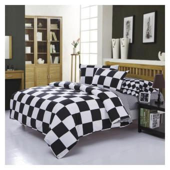 Elite 3 Piece Bedding Sets / Bedsheet (Checkered Design) - Single - 2