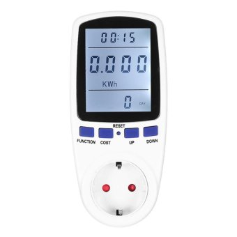 Energy Meter Watt Voltage Electricity Monitor with White BacklightEU Plug - intl