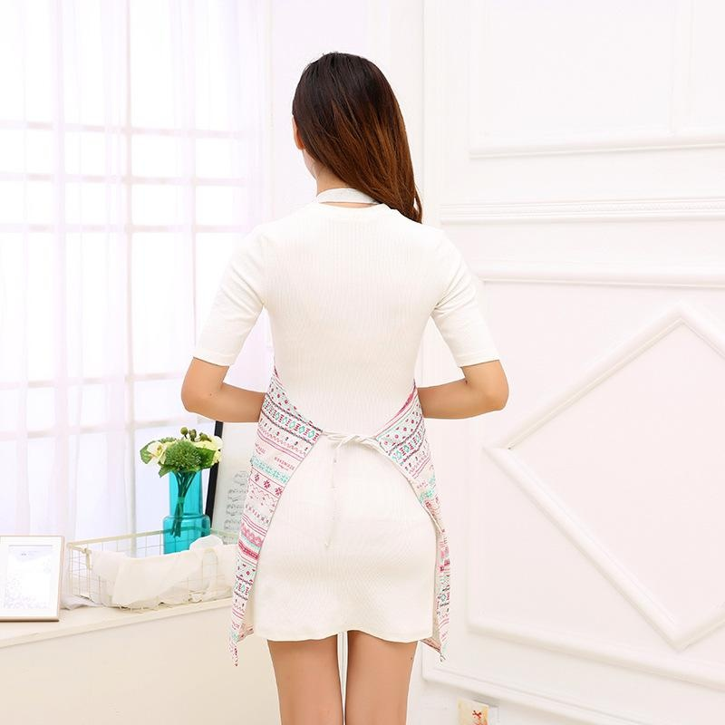 EOZY 80*98cm Womenu0027s Sleeveless Aprons Geometric Printed Oil ProofHousewife Kitchen  Apron With Pocket ...
