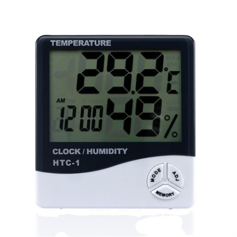 EOZY LCD Electronic Digital Temperature And Humidity Meter Thermometer Hygrometer with Alarm Clock - intl