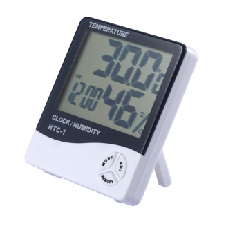 EOZY LCD Electronic Digital Temperature And Humidity Meter Thermometer Hygrometer with Alarm Clock - intl - 2