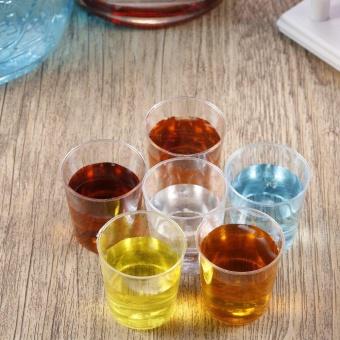 ERA 20pcs 28ml Mini Clear Reusable Plastic Disposable Cups TumblersDrink Short Cup - intl - 5